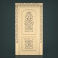 (1205) STL Model Door for CNC Router 3D Printer Artcam Aspire Bas Relief