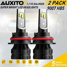 AUXITO 9007 HB5 LED Headlight Bulb 20000LM High Low Beam Combo KIT 6000K Canbus