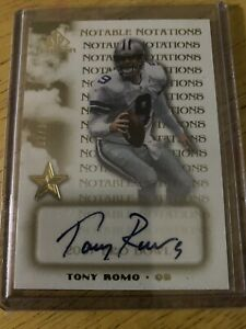 tony romo autograph Very Rare card In Great Condition! 🔥