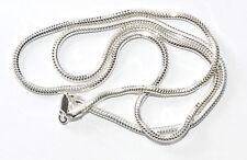 ECHTES 925 Silber Halskette - Schlange - Rhodiniert Ø 2,5 mm, Länge: 50 cm