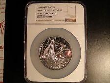 1987 Bermuda Wreck of Sea Venture $5 Proof NGC PF70 UC  TOP POP!! REGISTRY AWARD