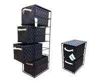 Black 2 or 4 Drawer Polypropylene Tower Storage Unit - Home Storage/Office
