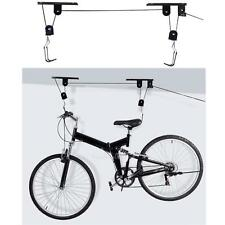 Ceiling Mounted Bike Bicycle Lift Garage Hanger With Pulley Rack New Hot Sale