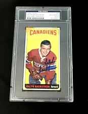 RALPH BACKSTROM SIGNED TOPPS 1964 TALL BOYS MONTREAL CANADIENS CARD #78 PSA/DNA