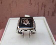 anello argento 925 uomo  stile antico oro  stemma