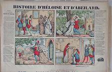 Vintage Rare Imagerie Pellerin 1842 print/Histoire d'Heloise et Abelard INV2289