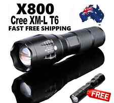 X800 G700 5000LM CREE LED  Military Grade Zoom Rechargeable Flashlight Torch