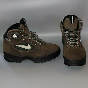 Vintage Nike Air ACG Women's Sz 6.5 Trail Compound Leather Hiking Boots (970709)