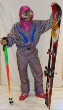 Retro Vintage 80's 90's Ski Suit STAG Neon Apres Ski K2 LILAC PURPLE EUR50
