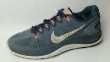Nike Lunarglide 5 Womens 11 M Sneakers Running Shoes Blue Gray Orange 599395 414