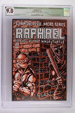 Raphael #1 - Mirage 1985 CGC 9.0 1st App Casey Jones! Signed & Sketched!