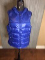 Tangerine Royal Blue Hooded Puffer Vest Size XXL Womens
