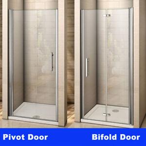 700-1000 Frameless Pivot/Bifold Shower Enclosure Door Walk In Glass Screen Panel