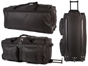 Large Lightweight Luggage Wheeled Holdall Trolley Suitcase Case Duffle Bag