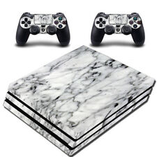 VWAQ PS4 Pro Marble Skin Cover Playstation 4 Pro White Wrap Decal
