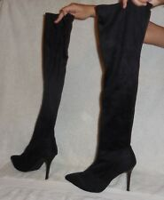 Stretch boots over knee