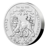 Bullion coin 5 Dollars Niue 2020 2 oz argent 999,9 ‰ – Lion République Tchèque