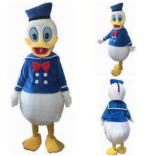 Top Quality Cosplay Party Adult Fancy Dress Donald Duck Mascot Costume Outfit US