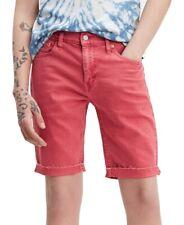 Levi's Mens Shorts Red Size 42 511 Slim Fit Cut Off Raw Hem Denim $50 #065