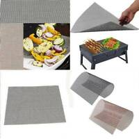 BBQ Grill Mesh Mat Reusable Teflon Sheet Resistant Non-Stick Barbecue Meat Tools