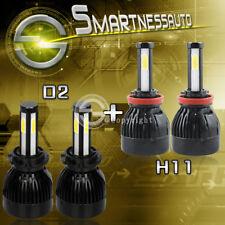 H11 & D2S 4-Sided 160W LED Headlight Kit Bulbs for 2013-2015 Acadia With HID