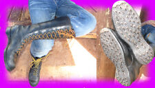 KILLER CALK BOOTS BY WESCO! $88? ALTERED JOBMASTERS. 50+ SPIKES PER BOOT! 10.5 +
