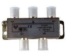 NEU!! BVE 4-01 4-fach Verteiler für Kabelsignal und Antenne