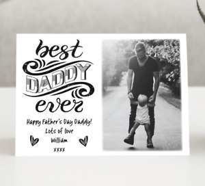 Personalised Photo Fathers Day Card • Best Daddy Card • Grandad • Dad • Daddy