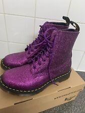 Dr. Martens 1460 Pascal purple multi glitter 8-eye boots UK 5 EU 38 RRP 115.00