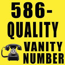 Vanity Phone Number (586) 782-5489 586-QUALITY  Michigan