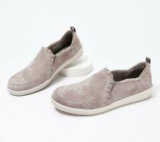 Skechers Suede Ruffle Slip-On Shoes - Madison Ave - Plushed