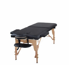 Heaven Massage Black Two Fold Portable Massage Table w/Free Accessories