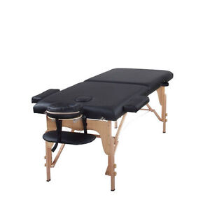 Heaven Massage Black  Two Fold Portable Massage Table w/Free Accessories