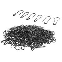 1000Pcs Metal Black Safety Pins/Gourd Pins for Clothing Crafting Home DIY