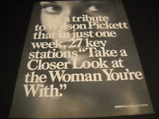 Wilson Pickett 1973 Promo Poster Ad for the song Take A Closer Look At The Woman