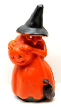 "Vintage Fanny Farmer Old Time Candies Wax Candy Halloween Container 7.5"" Tall"