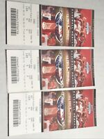 3 2007 St Louis Cardinals Tie Breaker Tickets cards never played the game