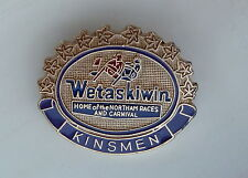 Wetaskiwin Kinsmen Home of the Northam Races and Carnival Lapel Souvenir Hat Pin