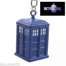 Dr Doctor Who Tardis 3-D Blue Police Box Enamel Metal Charm Keychain cosplay