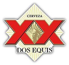"Dos Equis Cerveza Mexican Beer Drink Car Bumper Sticker Decal 5"" x 5"""