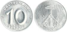 DDR 10 Pfennig  1952 E prägefrisch seltenes Jahr (1) prägefrisch