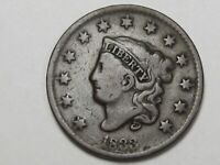 1833 US Coronet Head Large Cent Coin.  #17