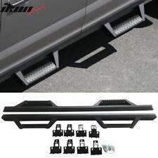 Fits 07-18 Toyota Tundra Crew Max Cab V3 Style Running Boards Nerf Bar Black 2PC