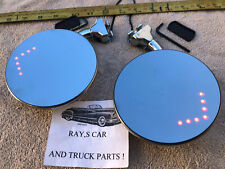 NEW CONVEX ( L.E.D ) DOOR PEEP MIRRORS WITH BUILT IN TURN ARROWS ! CAR / TRUCK !
