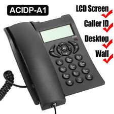 LCD Screen Corded Telephone Desktop Phone Caller ID Landline Home Office Hotel
