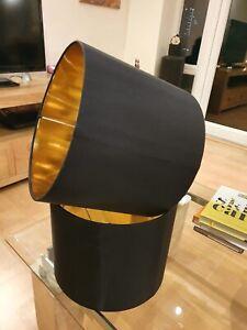 2 large chocolate brown John Lewis lampshades