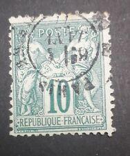timbre france oblitéré N°76 type sage type 2 10c vert