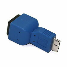 USB 3.0 B Female to Micro B Male Plug Adapter Gender Changer joiner Converter