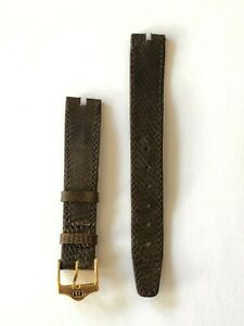 Gucci 16mm R Brown Watch Strap Band with Gold Buckle BRAND NEW