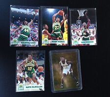 4 1994 Seattle Sonics Basketball Cards + 1995 Shawn Kemp Hologram Card